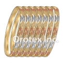 B008 Gold Plated Tri color Bangle