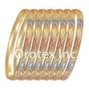 B009 Gold Plated Tri color Bangle