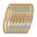 B015 Gold Plated Tri color Bangle