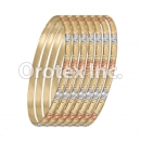 B037 Gold Plated Tri-Color Bangle
