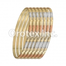 B039 Gold Plated Tri-Color Bangle