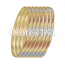 B041 Gold Plated Tri-Color Bangle
