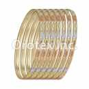 B044 Gold Plated Tri-Color Bangle