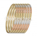 B049 Gold Plated Tri-Color Bangle