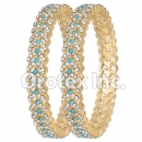 B086 Gold Layered CZ Bangle