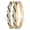 B090 Gold Layered CZ Bangle