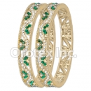 B092 Gold Layered CZ Bangle