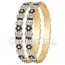 B094 Gold Layered CZ Bangle