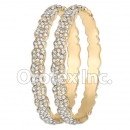 B095 Gold Layered CZ Bangle