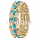 B098 Gold Layered CZ Bangle