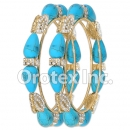 B104 Gold Layered CZ Bangle