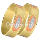 B166 Gold Layered Tri-Color 20MM Bangle