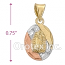 CH33-7 Gold Layered Tri-Color Charm