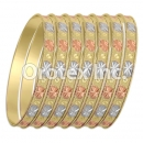 BG 001 Gold Layered Tri-Color 7MM Bangle