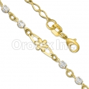 BN 014 Gold Layered CZ Bracelet