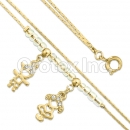 BN 019 Gold Layered CZ Bracelet