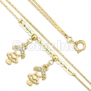 BN 021 Gold Layered CZ Bracelet