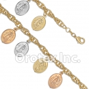 BR008 Gold Layered Tri-Color Bracelet