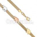 BR009 Gold Layered  Tri-Color Bracelet