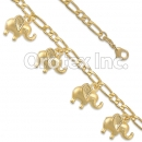 BR028 Gold Layered Anklet