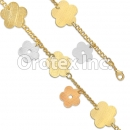 BR030 Gold Layered Tri Color Bracelet