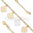 BR034 Gold Layered Tri Color Anklet