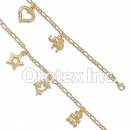 BR042 Gold Layered Anklet
