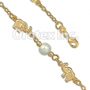 BR054  Gold Layered Kids Pearl Bracelet