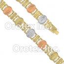 BR152 Gold Layered Tri-Color Bracelet