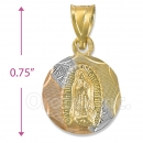 CH26-11  Gold Layered Tri-color Guadalupe Charm