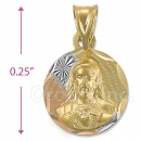 CH26-21  Gold Layered Sagrado Corazon Charm