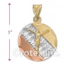 CH27-24 Gold Layered Tri-color Charm