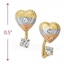 CH415 Gold Layered CZ Stud Earrings