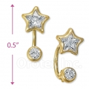 CH416 Gold Layered CZ Stud Earrings