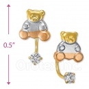 CH424 Gold Layered CZ Stud Earrings