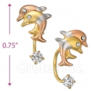 CH427 Gold Layered CZ Stud Earrings