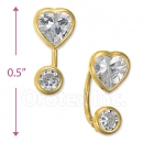 CH542 Gold Layered CZ Stud Earrings