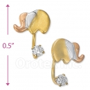 CH545 Gold Layered CZ Stud Earrings
