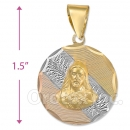 CL63  Gold Layered Sagrado Corazon Charm