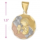 CL68  Gold Layered Tri-color First Communion Charm (Boys)