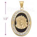 CL74 Gold Layered CZ Onyx Charm