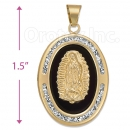 CL76 Gold Layered CZ Onyx Charm