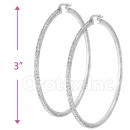 EH009 Silver Layered CZ Hoop Earrings 1/10