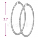 EH015 Silver Layered CZ Hoop Earrings 2/6