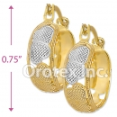 EH035 Gold Layered Tri-color Hoop Earrings