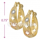 EH037 Gold Layered Tri-color Hoop Earrings