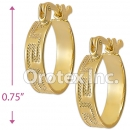 EH040 Gold Layered Hoop Earrings