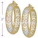 EH049 Gold Layered Tri-color Hoop Earrings