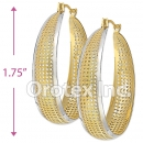 EH061 Gold Layered Two Tone Hoop Earrings