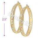 EH072 Gold Layered Tri-Color Hoop Earrings